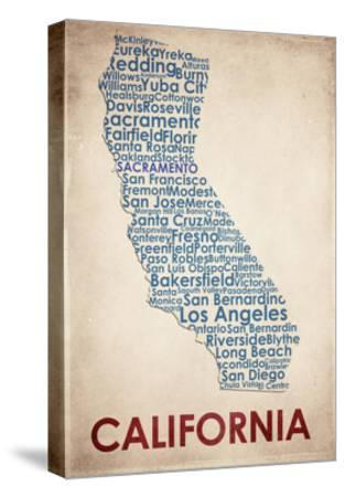 California-American Flat-Stretched Canvas Print