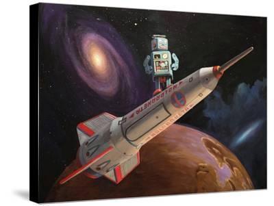 Rocket Surfer-Eric Joyner-Stretched Canvas Print