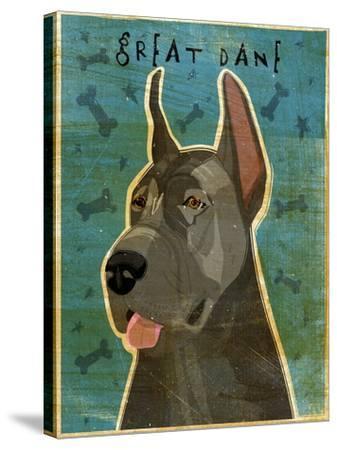 Great Dane Blue-John W Golden-Stretched Canvas Print