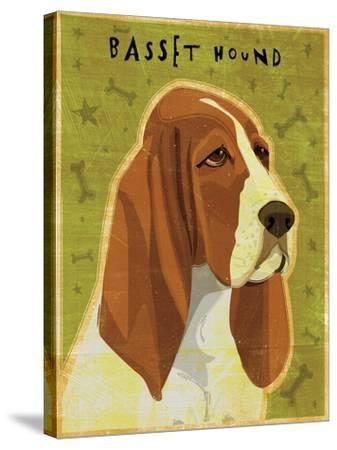 Basset Hound-John W Golden-Stretched Canvas Print