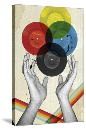 CMYK The Creation Of Retro-Elo Marc-Stretched Canvas Print
