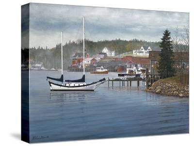 Tranquil Harbor-David Knowlton-Stretched Canvas Print