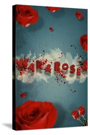 War And Roses-Elo Marc-Stretched Canvas Print