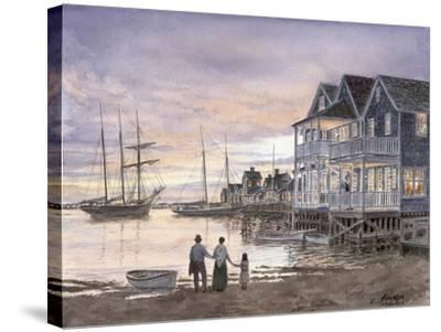 Nantucket Sunset-Stanton Manolakas-Stretched Canvas Print