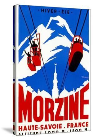 Morzine-Vintage Apple Collection-Stretched Canvas Print