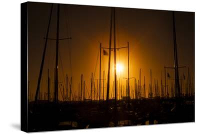 Mast Sunset-Chris Moyer-Stretched Canvas Print