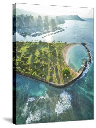 Magic Island Vertical-Cameron Brooks-Stretched Canvas Print
