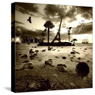 Eiffel Nightmare-Philippe Sainte-Laudy-Stretched Canvas Print