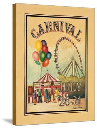 Carnival-Catherine Jones-Stretched Canvas Print