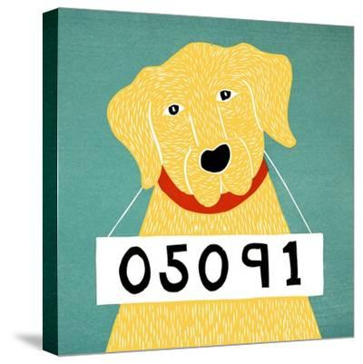 Bad Dog 05091 Yellow-Stephen Huneck-Stretched Canvas Print