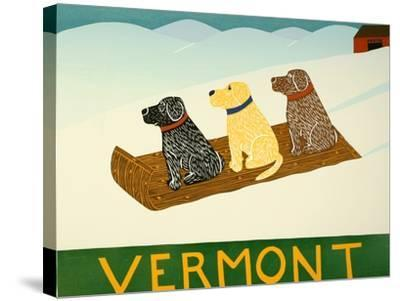Vermont Sled Dogs-Stephen Huneck-Stretched Canvas Print