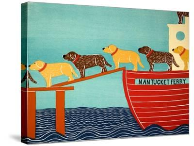 Island Ferry Nan Choc Yellow-Stephen Huneck-Stretched Canvas Print