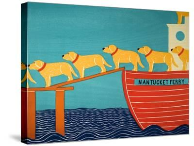 Island Ferry Nan Yellow-Stephen Huneck-Stretched Canvas Print