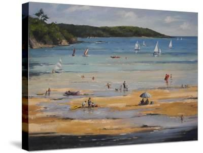 Beach-Jennifer Wright-Stretched Canvas Print