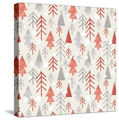 Seamless Christmas Pattern on Paper Texture. Winter Background.- Irtsya-Stretched Canvas Print