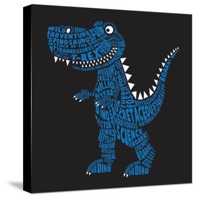 Dinosaur Illustration, Typography, T-Shirt Graphics, Vectors- Syquallo-Stretched Canvas Print