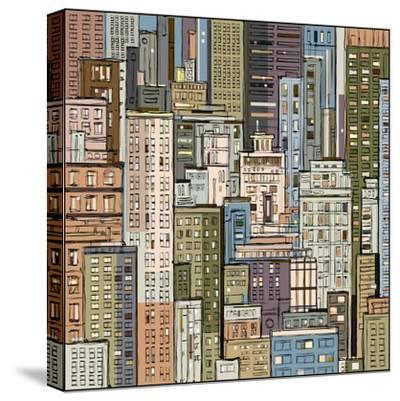 Cityscape. Hand Drawn Vector-dahabian-Stretched Canvas Print