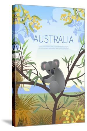 Australian Landscape Poster. Every Element is Located on a Separate Layer. Images is Cropped with C-Annareichel-Stretched Canvas Print