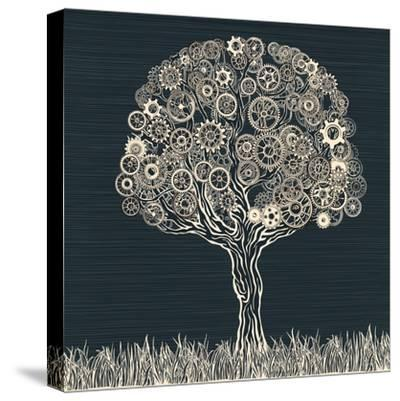 Tech Tree.-RYGER-Stretched Canvas Print