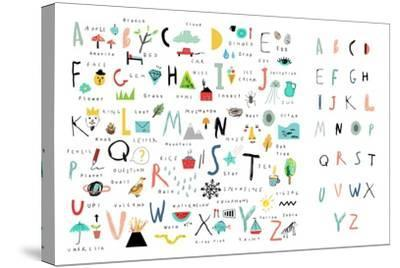 Cute Alphabet - Letters and Words-Lera Efremova-Stretched Canvas Print