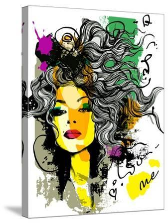 Fashion Print Sketch with a Model-A Frants-Stretched Canvas Print