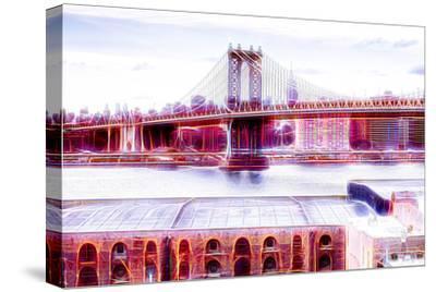 Manhattan Shine - NY Bridge-Philippe Hugonnard-Stretched Canvas Print