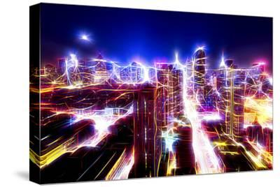 Manhattan Shine - Dazzling Night-Philippe Hugonnard-Stretched Canvas Print