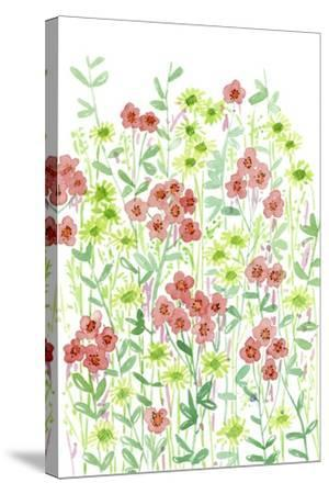 Wall Flowers II-Melissa Wang-Stretched Canvas Print