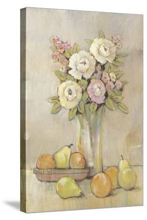 Still Life Study Flowers & Fruit I-Tim OToole-Stretched Canvas Print