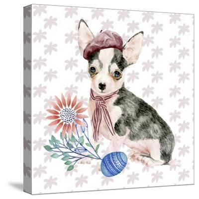 Easter Pups II-Melissa Wang-Stretched Canvas Print