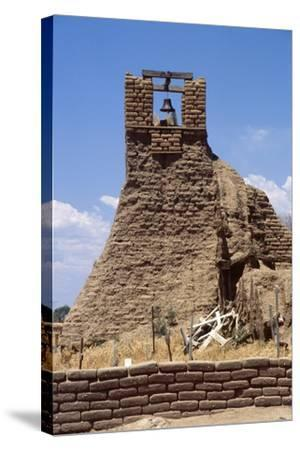 Adobe Bell Tower, Taos, New Mexico-George Oze-Stretched Canvas Print