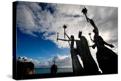 La Rogativa Sculpture, San Juan, Puerto Rico-George Oze-Stretched Canvas Print