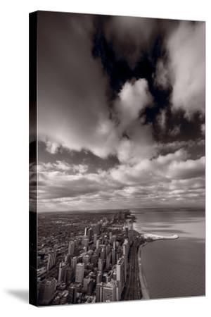 Chicago Aloft BW-Steve Gadomski-Stretched Canvas Print