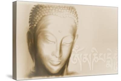 Buddha- Om mani padme hum-Christine Ganz-Stretched Canvas Print