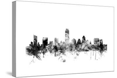 Austin Texas Skyline-Michael Tompsett-Stretched Canvas Print