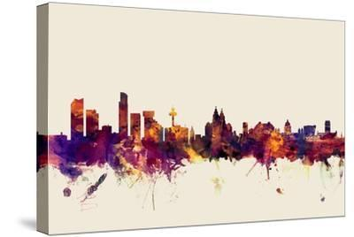 Liverpool England Skyline-Michael Tompsett-Stretched Canvas Print