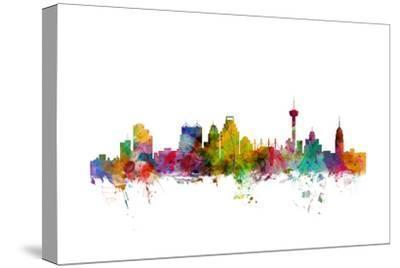San Antonio Texas Skyline-Michael Tompsett-Stretched Canvas Print
