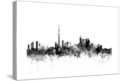 Toronto Canada Skyline-Michael Tompsett-Stretched Canvas Print