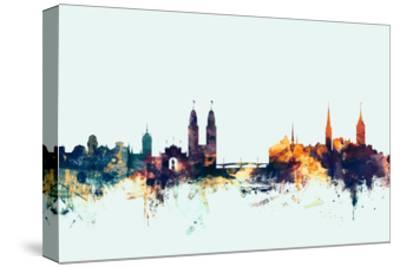 Zurich Switzerland Skyline-Michael Tompsett-Stretched Canvas Print