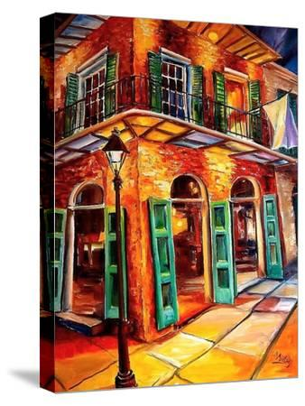 New Orleans Jazz Corner-Diane Millsap-Stretched Canvas Print
