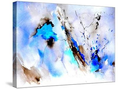 Abstract Blue 236874-Pol Ledent-Stretched Canvas Print