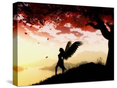 Angel at Dawn-Julie Fain-Stretched Canvas Print