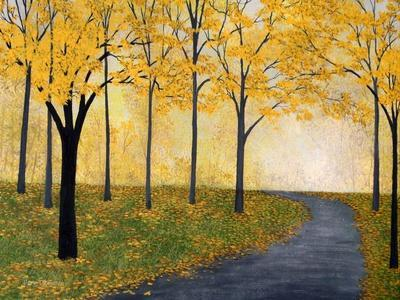 Golden Fall-Herb Dickinson-Stretched Canvas Print