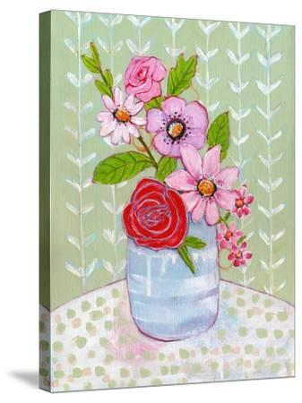 Ava Rose Flowers-Blenda Tyvoll-Stretched Canvas Print