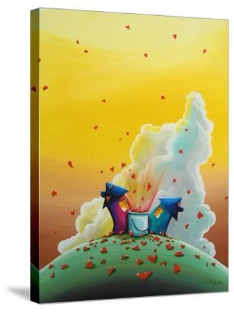 Let Love Rain-Cindy Thornton-Stretched Canvas Print