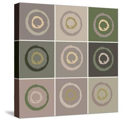 Nine Patch Circles In Circles-Ricki Mountain-Stretched Canvas Print