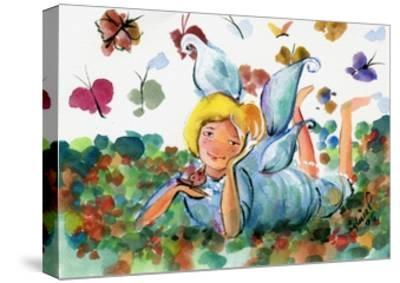 BUTTERFLY FAIRY-sylvia pimental-Stretched Canvas Print