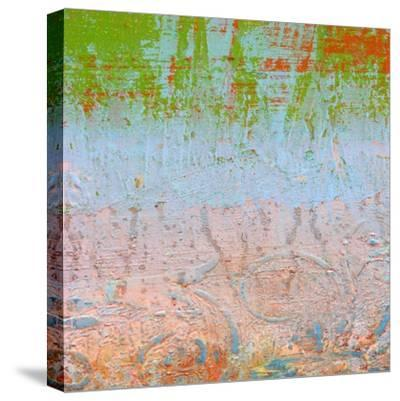 Rainbow Sherbet Abstract-Ricki Mountain-Stretched Canvas Print