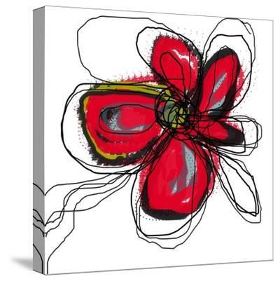 Red Butterfly Flower-Jan Weiss-Stretched Canvas Print