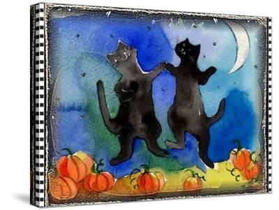 Dancing Black Cats Halloween-sylvia pimental-Stretched Canvas Print